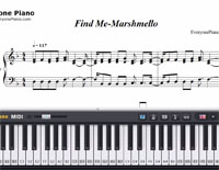 Find Me-Marshmello-Free Piano Sheet Music