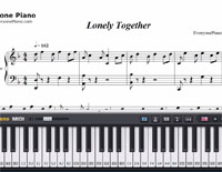 Lonely Together-Avicii-Free Piano Sheet Music
