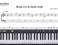 Ready For It-Taylor Swift-Free Piano Sheet Music