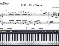 First Storm-Hatsune Miku-Free Piano Sheet Music