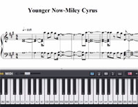 Younger Now-Miley Cyrus-Free Piano Sheet Music