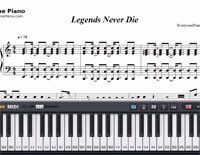 Legends Never Die-League of Legends 2017 World Championship Theme-Free Piano Sheet Music