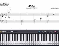 Alpha-Minecraft BGM-Free Piano Sheet Music