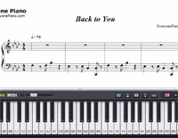Back to You-Louis Tomlinson-Free Piano Sheet Music
