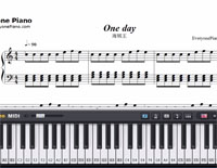 One day-One Piece OP13-Free Piano Sheet Music