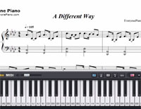A Different Way-DJ Snake ft Lauv-Free Piano Sheet Music