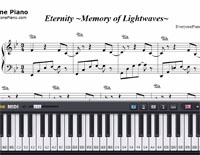 Eternity Memory of Lightwaves-Final Fantasy X-2BGM-Free Piano Sheet Music