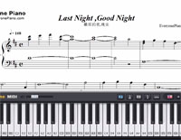 Last Night Good Night-Hatsune Miku-Free Piano Sheet Music