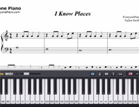 I Know Places-Taylor Swift-Free Piano Sheet Music