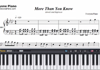 More Than You Know-Axwell and Ingrosso-Free Piano Sheet Music