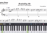 Reminding Me-Shawn Hook ft Vanessa Hudgens-Free Piano Sheet Music