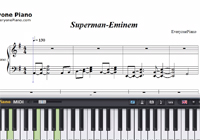Superman-Eminem-Free Piano Sheet Music