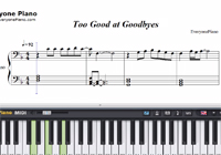 Too Good at Goodbyes-Sam Smith-Free Piano Sheet Music