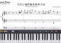 Castle in the Sky and Carrying you and Canon-Free Piano Sheet Music