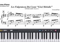 Liszt Melodie-Les Fulgrancea Du Coeur-Free Piano Sheet Music