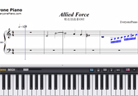 Allied Force-Gundam Build Fighters OST-Free Piano Sheet Music