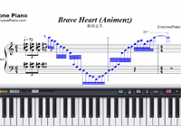 Brave Heart-Digimon Adventure OST-Free Piano Sheet Music