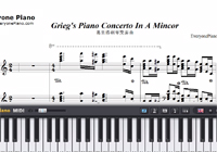 Grieg's Piano Concerto In A Mincor-Maksim-Free Piano Sheet Music