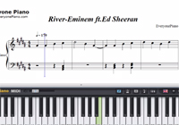 River-Eminem ft Ed Sheeran-Free Piano Sheet Music
