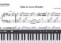 Time to Love-October-Free Piano Sheet Music
