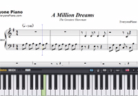 A Million Dreams-The Greatest Showman OST-Free Piano Sheet Music