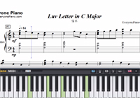 Luv Letter C Major-Dj Okawari-Free Piano Sheet Music
