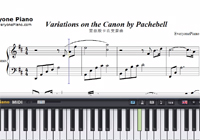 Variations On The Canon-David Lanz-Free Piano Sheet Music