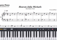 Heaven-Fifty Shades Freed OST-Free Piano Sheet Music