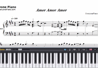 Amor Amor Amor-Jennifer Lopez楽譜ピアノ学習
