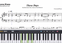 These Days-Rudimental-Free Piano Sheet Music