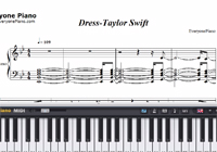 Dress-Taylor Swift-Free Piano Sheet Music