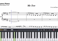 Me Too-Meghan Trainor-Free Piano Sheet Music