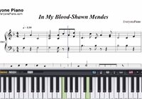 In My Blood-Shawn Mendes-Free Piano Sheet Music