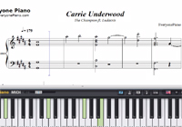 The Champion-Carrie Underwood ft Ludacris-Free Piano Sheet Music
