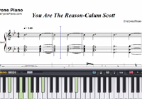 You Are The Reason-Calum Scott-Free Piano Sheet Music