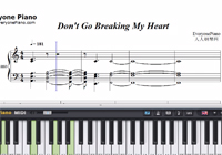 Don't Go Breaking My Heart-The Backstreet Boys-Free Piano Sheet Music
