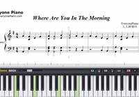 Where Were You in the Morning-Shawn Mendes楽譜ピアノ学習