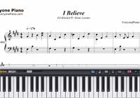 I Believe-A Wrinkle in Time OST-Free Piano Sheet Music
