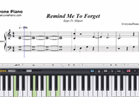 Remind Me To Forget-Kygo and Miguel-Free Piano Sheet Music