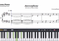 Answerphone-Free Piano Sheet Music