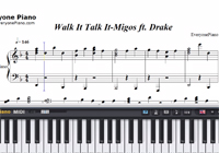 Walk It Talk It-Migos and Drake-Free Piano Sheet Music