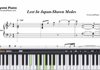 Lost In Japan-Shawn Mendes-Free Piano Sheet Music
