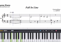 Fall In Line-Christina Aguilera and Demi Lovato-Free Piano Sheet Music