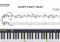 HAPPY PARTY TRAIN-Love Live Sunshine-Free Piano Sheet Music
