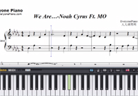 We Are-Noah Cyrus ft MO-Free Piano Sheet Music