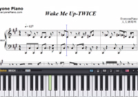 Wake Me Up-TWICE-Free Piano Sheet Music