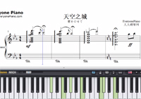 Castle in The Sky in C Major Advanced Version-Joe Hisaishi-Free Piano Sheet Music