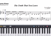 The Truth That You Leave Original Version-Pianoboy-Free Piano Sheet Music