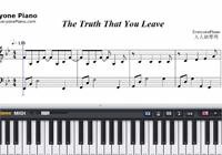 The Truth That You Leave-原譜楽譜ピアノ学習