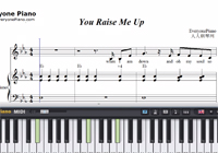 You Raise Me Up Full Version-Westlife-Free Piano Sheet Music